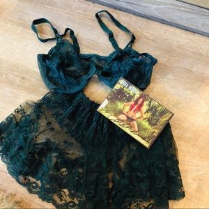 Marilyn Monroe Sexy christmas lace lingerie set